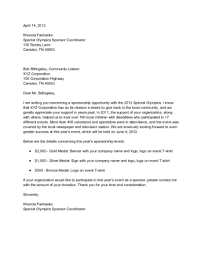 Sponsorship Letter Templates how to write a letter requesting sponsorship with sle letters