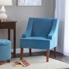 Velvet Accent Chair Homepop Swoop Arm Velvet Accent Chair Teal K6499 B122 The Home Depot