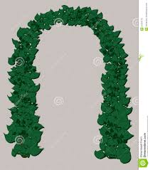 wedding arch leaves wedding arch of green leaves stock illustration image 51934770