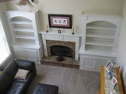 Cost Of Built In Bookcases I Added Built In Bookshelves Around Fireplace In Living Room
