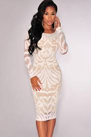 white party dresses white lace sleeves low back bodycon party dress sleeve