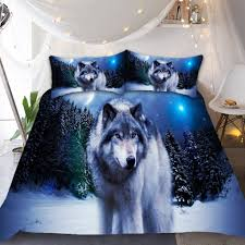 Wolf Bedding Set Snow Wolf Bedding Set Novelty Finds
