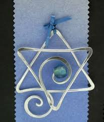 of david ornament for hanukkah made on a wigjig