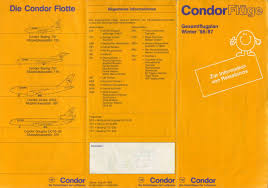 Condor Airlines Route Map by Airline Memorabilia Junio 2011
