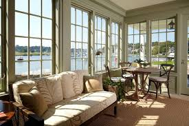 Sunroom Sofas Bay View Sunroom Traditional With Round Table Sofas And Sectionals