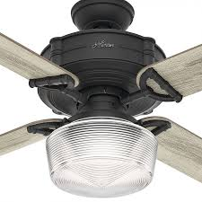 Hunter 60 Inch Ceiling Fan by 54177 Brunswick 1 Led Light 60 Inch Ceiling Fans In Natural Iron