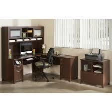 bush fairview collection l shaped desk bush tuxedo cherry computer desk with optional hutch hayneedle