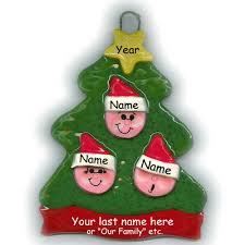 tree family of 3 ornament