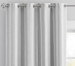Black And Gray Curtains Room Blackout Window Panel Pottery Barn