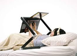 Laptop Desks For Bed An Desk For Using Your Laptop In Bed Geekologie