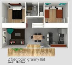 Floor Plan Of Two Bedroom House Two Bedroom Granny Flat Designs U0026 Plans Granny Flats Sydney Nsw