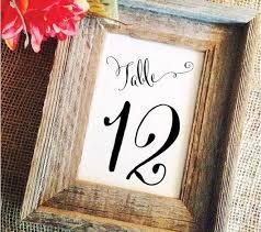 Table Numbers Wedding Wedding Table Numbers U2013 Wedding Cheer
