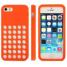 ultra slim silicon colourful retro dots hole case cover for apple