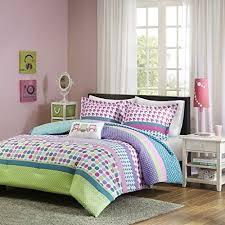 Queen Bedding Sets For Girls by Girls Teen Modern Comforter Bedding Set Pink Purple Aqua Blue