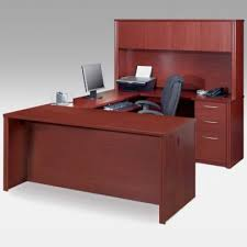 Timber Office Desk Corner L Shaped Office Desk With Hutch Black And Cherry Black Open