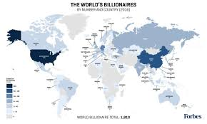 Algeria World Map Forbes Billionaires List Map 2016 Billionaire Population By Country