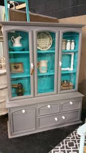 Kitchen China Cabinet Hutch Red China Cabinet Hutch Sold By Emptynestrestoration On Etsy