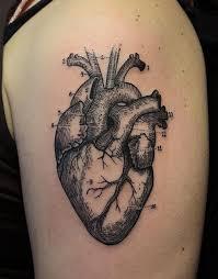 shoulder realistic heart tattoo tattoomagz