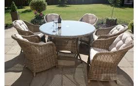 Maze Kitchen Table - maze rattan winchester round armchair set 6 seater round table