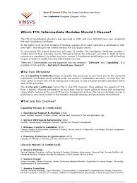 Ops It Service Desk Which Itil Intermediate Modules Should I Choose Itil Business