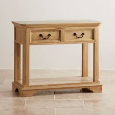 Oak Wood Furniture Solid Oak Console Table With Storage Solid Oak Wood Furniture Uk