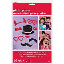 Walmart Valentine Decorations Valentine U0027s Day Photo Booth Props Assorted 10pk Walmart Com