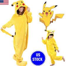 pikachu costume costume party pyjamas pikachu sleepwear kids