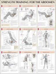 strength training for the abdomen chart fitness u0026 health