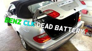 mercedes w208 clk how to open trunk dead battery jump start clk200