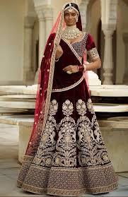 indian wedding dresses gulkand maroon velvet fashion indian wedding dresses