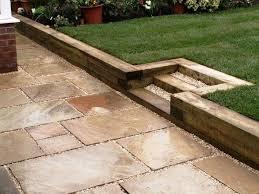 garden sleepers ideas garden retaining wall ideas wooden railway