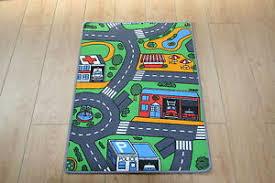 kids bedroom car play mat rug 67cm x 94cm car roads play nursery