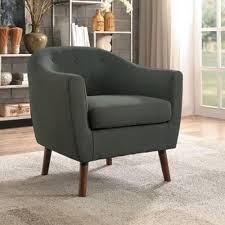 Mid Century Modern Accent Chair Homelegance Lucille Mid Century Modern Accent Chair With Tufted