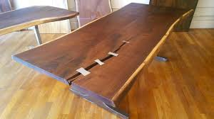 live edge table top commission only custom live edge table top with steel or brass