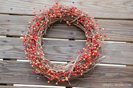 Fall Wreaths Diy Simple Fall Wreath Simply Nicole