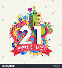21 birthday card design happy birthday twenty one 21 year stock vector 389151160