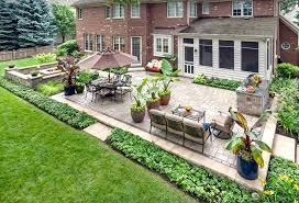 Patio Construction Ideas by Easy Landscape Ideas Gallery Including Basic Landscaping Pictures