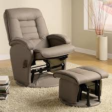 Reclining Patio Chair With Ottoman by Furniture U0026 Rug Classy Glider Recliner For Home Furniture Idea