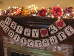anniversary decorations wedding decor creative 40th wedding anniversary decorations