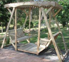 Wooden Garden Swing Seat Plans by Plans For A Deluxe Garden Swing Honey I U0027m In The Garage