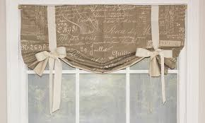 Curtains With Ribbon Ties Tie Up Valance Curtains Curtains Ideas
