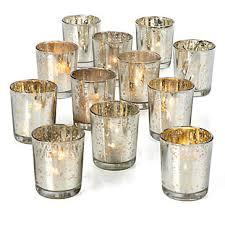 mercury tea light holders silver mercury glass votives z gallerie