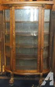 antique curio cabinet with curved glass curved glass curio cabinet a beautiful display solution best use of