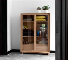 Bookcases With Glass Solid Wood Bookcases With Glass Doors Home Design Ideas