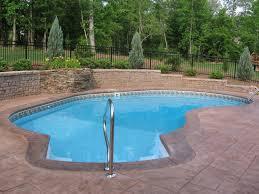 swimming pool cozy small backyard pool design with creatif wall