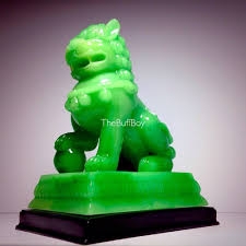 choo foo dogs foo dog lion statue 9 heavy 8 9 lbs jade composite