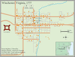 Winchester Virginia Map by British Atlantic American Frontier Canadian American Center