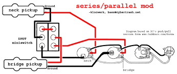 series parallel wiring diagram bass guitar pinterest s mod