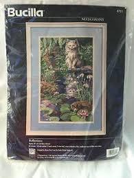 bucilla reflections needlepoint kit 10 x 16 cat 4721 cats