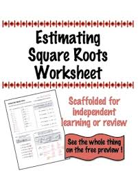 easy and fun activity to use for estimating square roots my